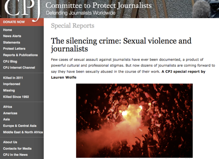 "CPJ's ""The silencing crime"" was published June 7, 2011."